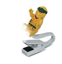 Load image into Gallery viewer, LEGO Ninjago Legacy Gold Ninja 175% Scale Minifigure LED USB Book Light