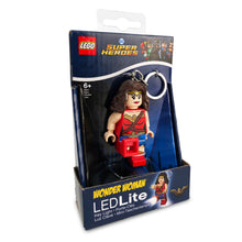 Load image into Gallery viewer, LEGO DC Super Heroes Wonder Women  175% Scale Minifigure LED Key Light