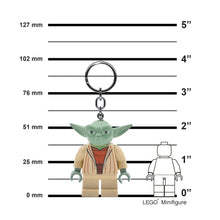 Load image into Gallery viewer, LEGO Star Wars Yoda  175% Scale Minifigure LED Key Light