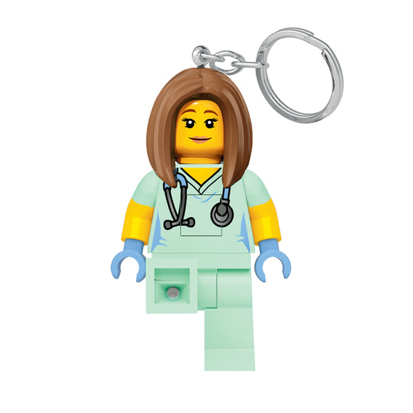LEGO Classic Veterinarian/ Nurse  LED Keychain Light