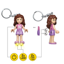 Load image into Gallery viewer, LEGO Friends Olivia 175% Scale Minifigure LED Keylight