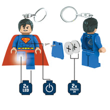 Load image into Gallery viewer, LEGO DC Super Heroes Superman 175% Scale Minifigure LED Key Light