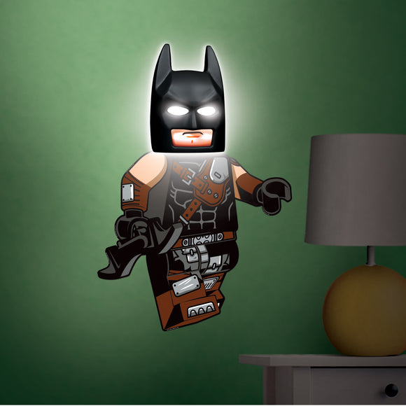 LEGO Batman Movie Batman Mask LED Night light with wall Decals