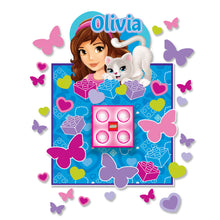 Load image into Gallery viewer, LEGO Friends Olivia  Brick LED Night Light  and wall Decals
