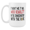 It Wasn't Me, It Was... Miss Scarlett In The Conservatory With The Rope 15oz Mug, Clue Board Game Mug, Board Game Geek Gift - Agile Expressions