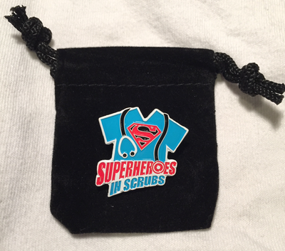 Nurse Pin: Superheroes in Scrubs - Unique Nurse Appreciation Gift for Nursing Staff - Velvet Gift Pouch Included - Agile Expressions
