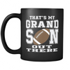 That's My Grandson, Football Grandma or Grandpa, 11oz Mug, Grandparent's Day Gift Idea, Nana, Papa, Favorite Player, Biggest Fan - Agile Expressions