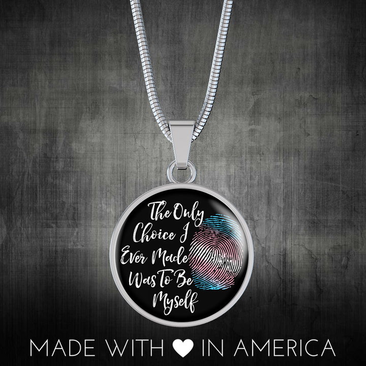 Transgender Be Myself Necklace, Transgender Necklace, Transgender Pride, MTF, FTM