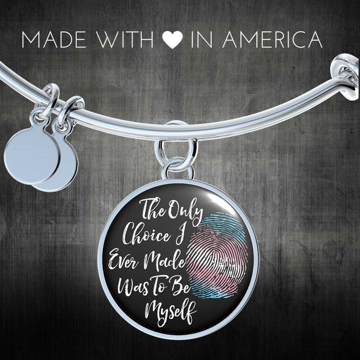 Transgender Be Myself Necklace, Transgender Necklace, Transgender Pride, MTF, FTM - Agile Expressions