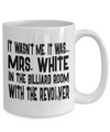 Mrs. White In The Billiard Room With The Revolver - Agile Expressions