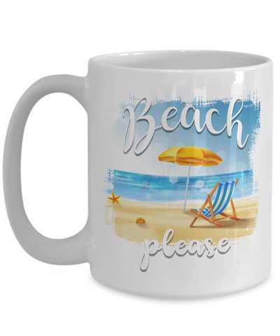 Beach Please Coffee Mug - Agile Expressions