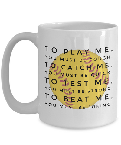 Softball Mugs For Players - Agile Expressions