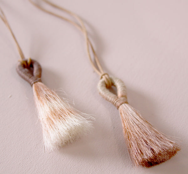 Cochineal Tassel Necklace