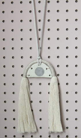 Third Eye Linen Necklace