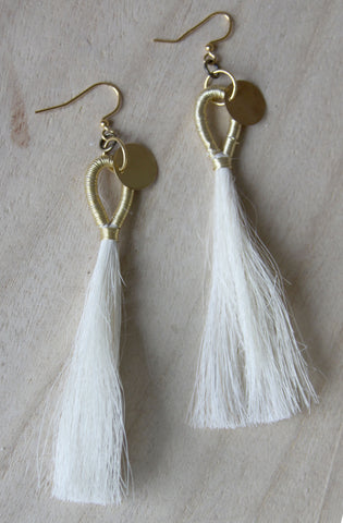Horsehair Tassel Earrings