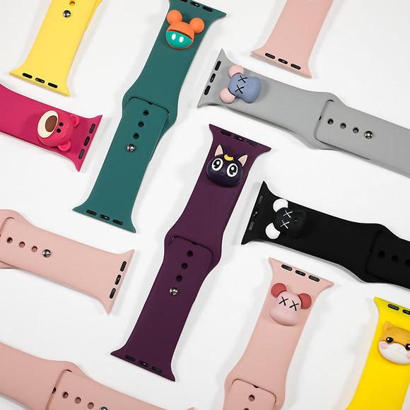 Silicone Strap with Cartoon Figurine - The Wrist Bandit