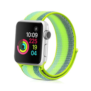 Lime Green Mix Stripe - The Wrist Bandit