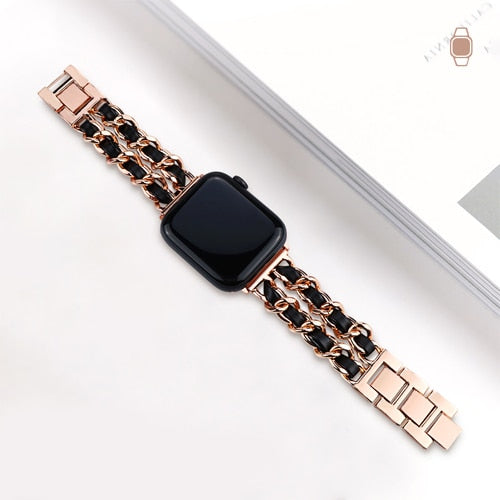 Rose Gold Black - The Wrist Bandit