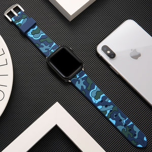 Camouflage Soft Silicone Sport Band - The Wrist Bandit