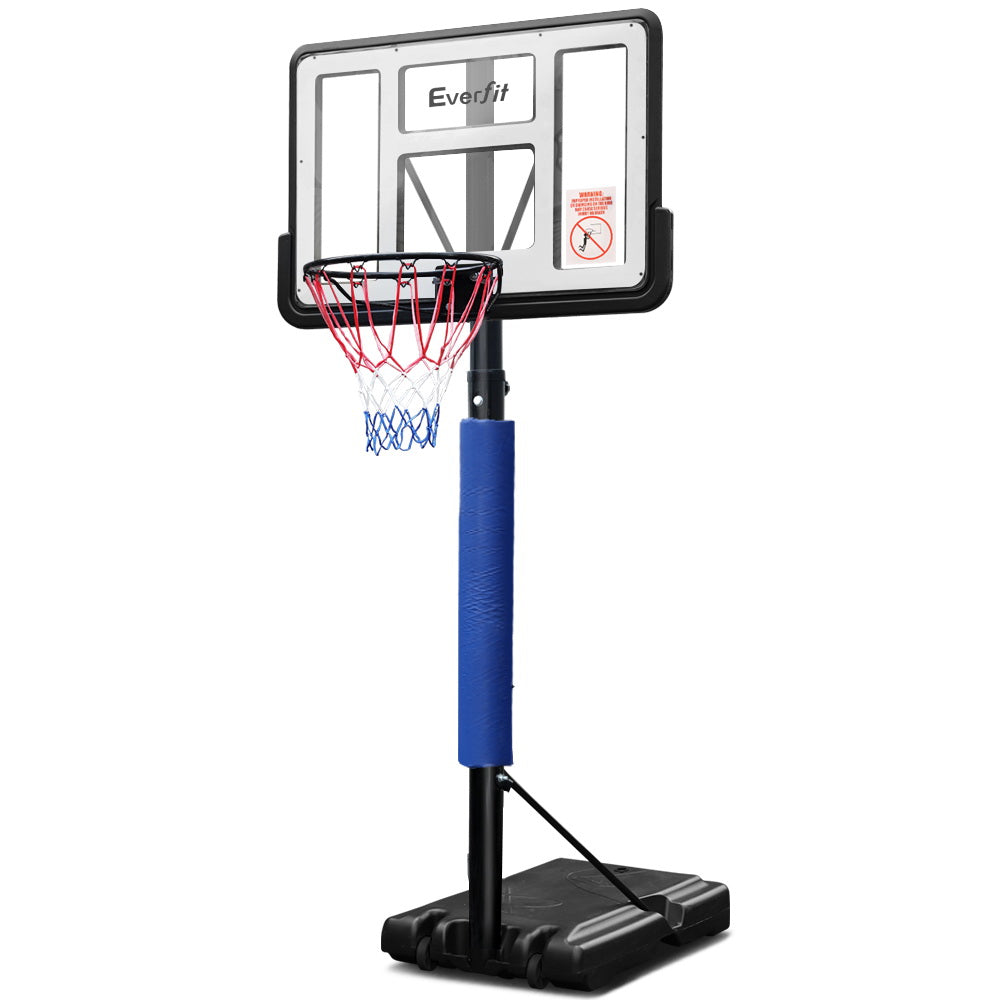 Everfit 3.05M Basketball Hoop Stand System Ring Portable Net Height Adjustable Blue - Everfit