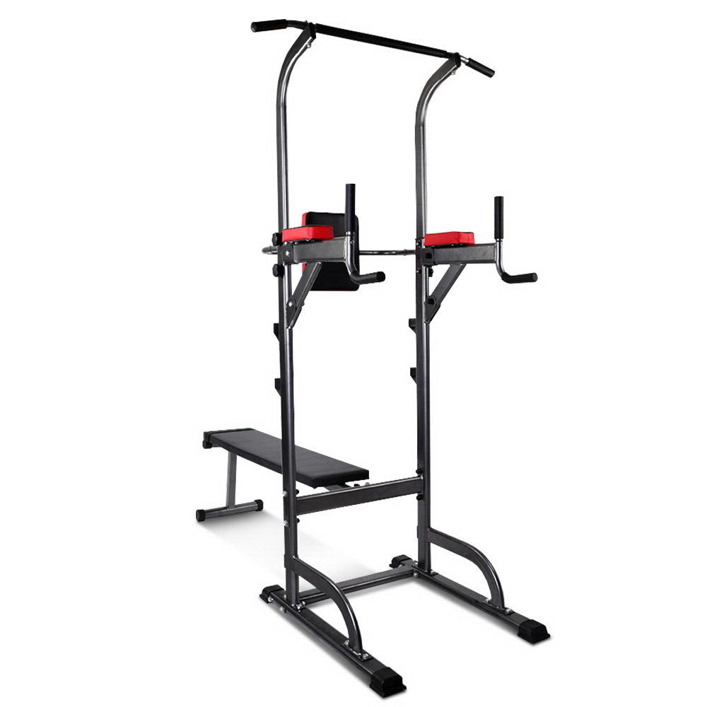 Everfit Power Tower 9-IN-1 Multi-Function Station Fitness Gym Equipment - Everfit Australia Home Gym Fitness Sports Equipment