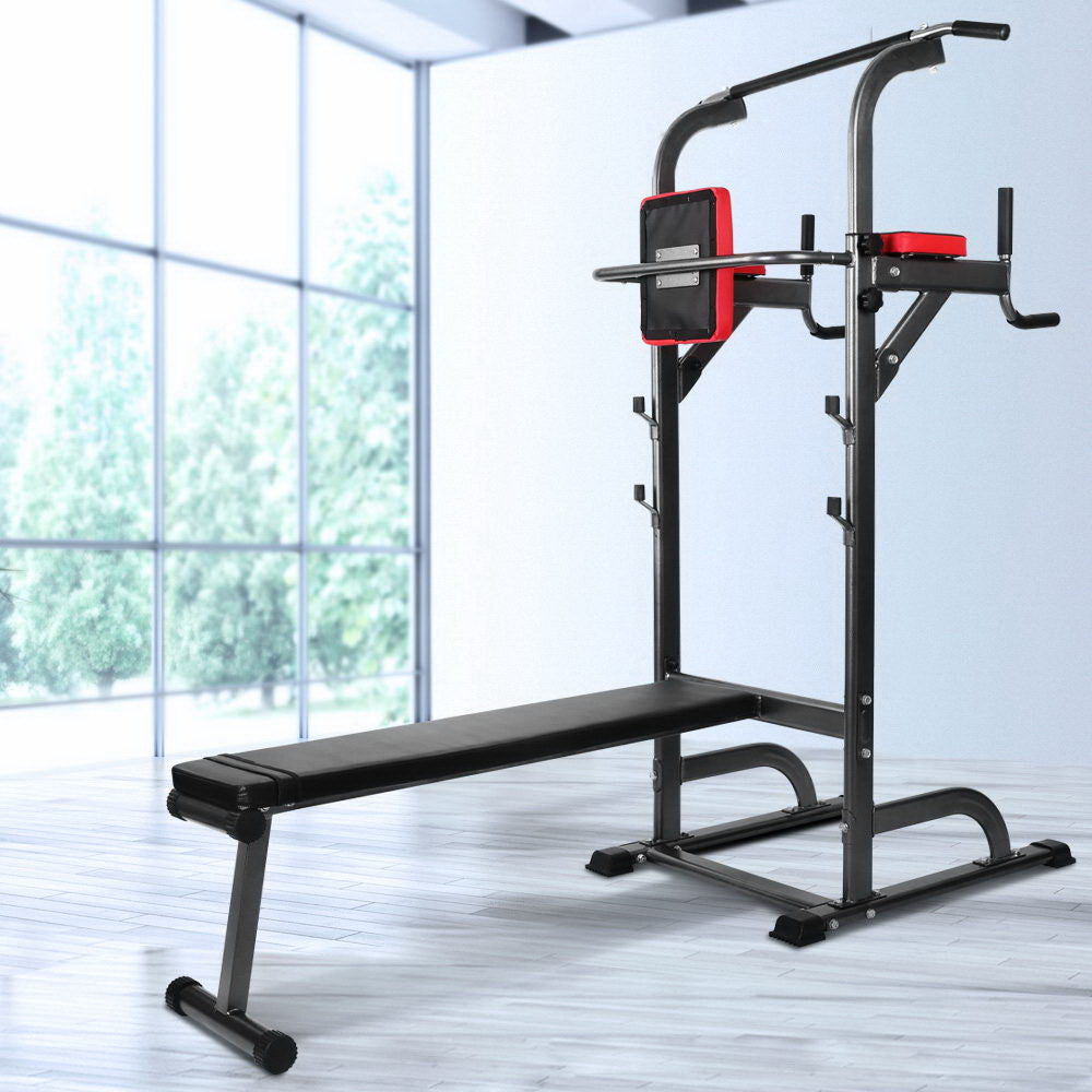 Everfit Power Tower 9-IN-1 Multi-Function Station Fitness Gym Equipment - Everfit