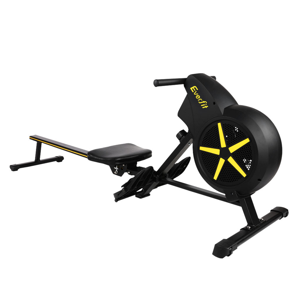 Everfit Rowing Exercise Machine Rower Resistance Fitness Home Gym Cardio Air - Everfit Australia Home Gym Fitness Sports Equipment