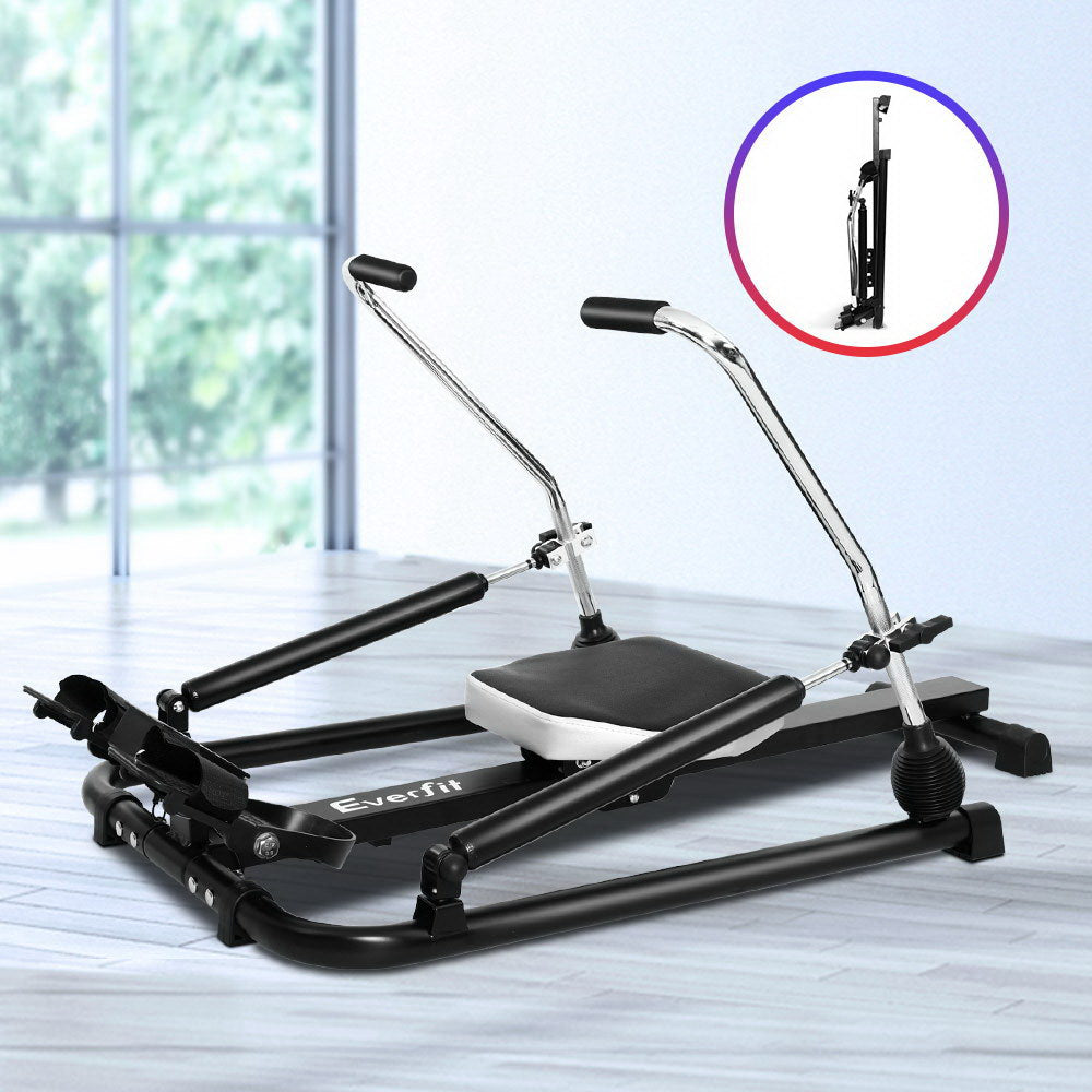 Everfit Rowing Exercise Machine Rower Hydraulic Resistance Fitness Gym Cardio - Everfit Australia Home Gym Fitness Sports Equipment