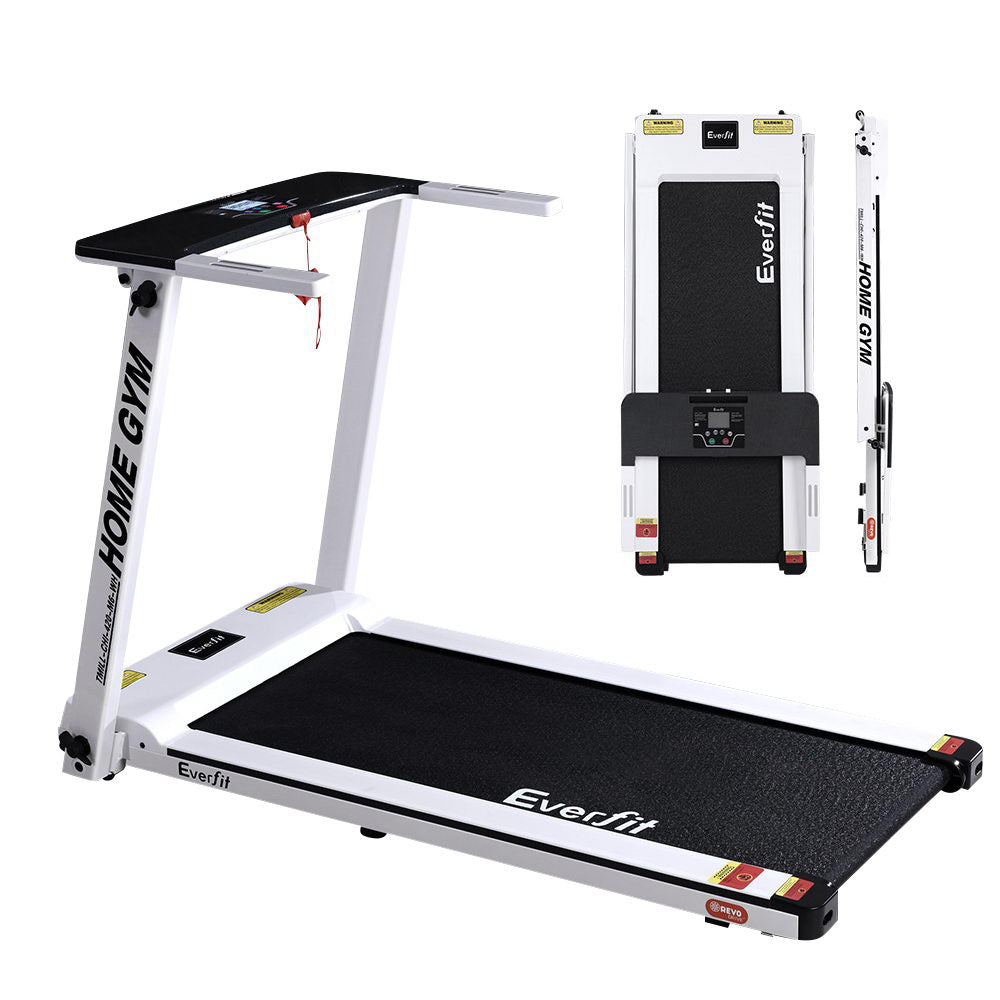 Everfit RUNCOMPAX Home Treadmill Running Machine - White 42cm belt width - Everfit