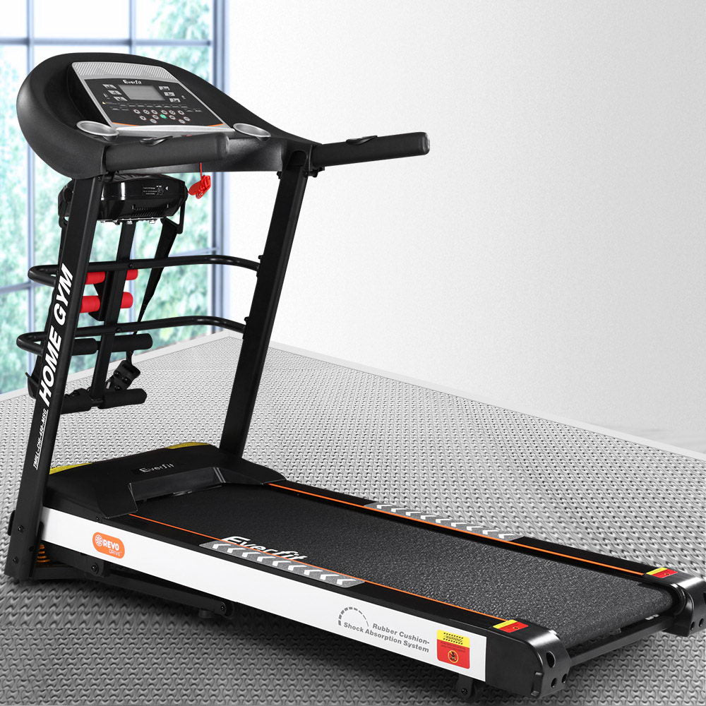 Everfit Electric Treadmill Auto Incline Home Gym Run Exercise Machine Fitness - Everfit