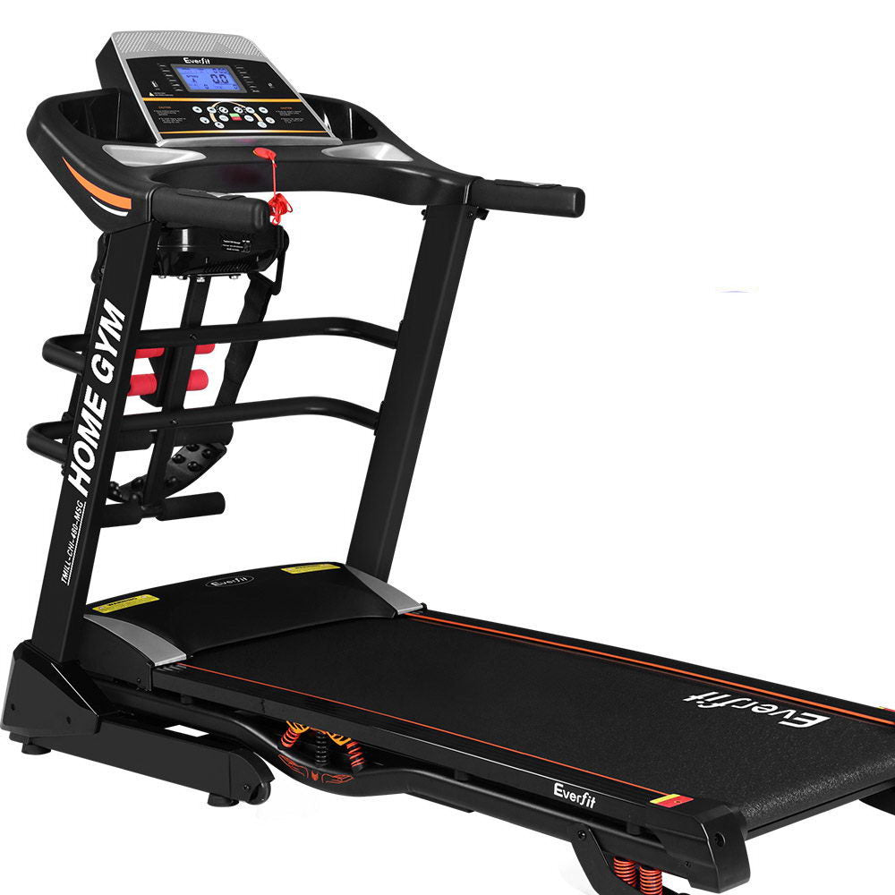 Everfit RUNPRO Treadmill with Multifunctions - massage belt, sit-up bar, and dumbbells - Everfit