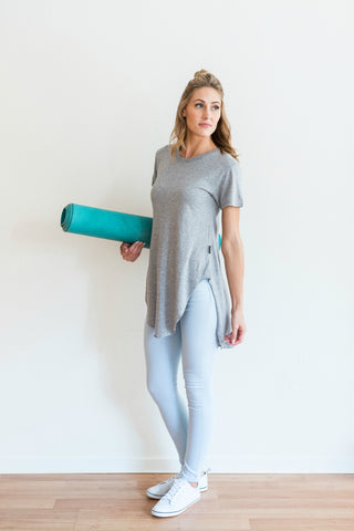 Free Label, Free Label Grey Johnny Tee - FLOW-active