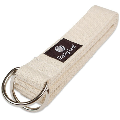 Dusky Leaf Natural Yoga Strap