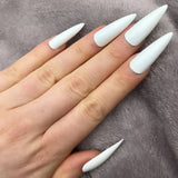 Stiletto Long Fake Nails With Glue Sticker Nail Pops