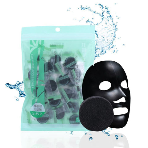 Black Compressed Bamboo Mask - SourcesOfBeauty