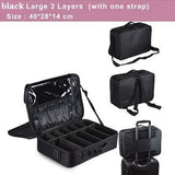 New Professional Makeup Organizer Travel Beauty Cosmetic Case