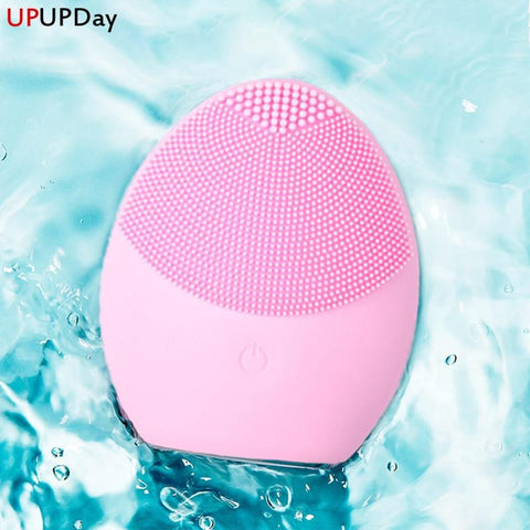 Silicone Brush Cleaner Sonic Vibration Deep Pore Cleansing - SourcesOfBeauty