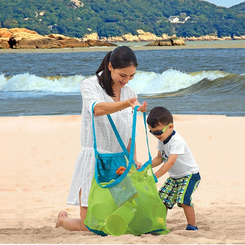 Foldable Portable Beach Bag  Storage   Baby Toys - SourcesOfBeauty