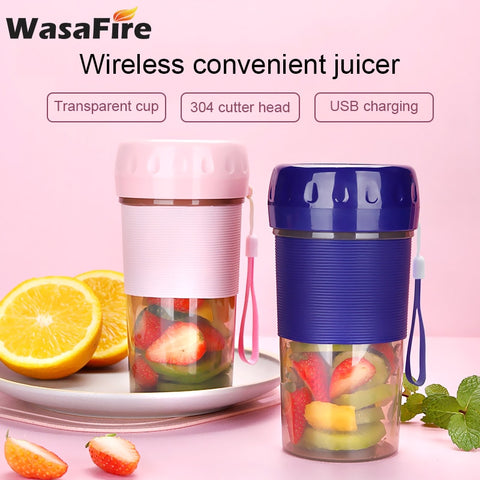 USB Rechargeable Juicer 300ml Portable Blender Mixer Wireless