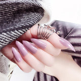24pcs Ballerina Fake Nails Glossy Long - SourcesOfBeauty