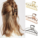 Women Girls Geometric Hair Claw Clamps  Accessories Hairpin Large/Mini Size