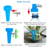 12Pcs/lot Automatic Drip Irrigation Tool Spikes Flower Plant Garden