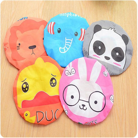 Cute Cartoon Waterproof toilet Shower caps  . - SourcesOfBeauty