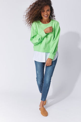 Cabo Sweat Apple Green