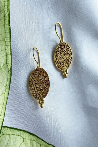 Algir Gold Coin Earrings