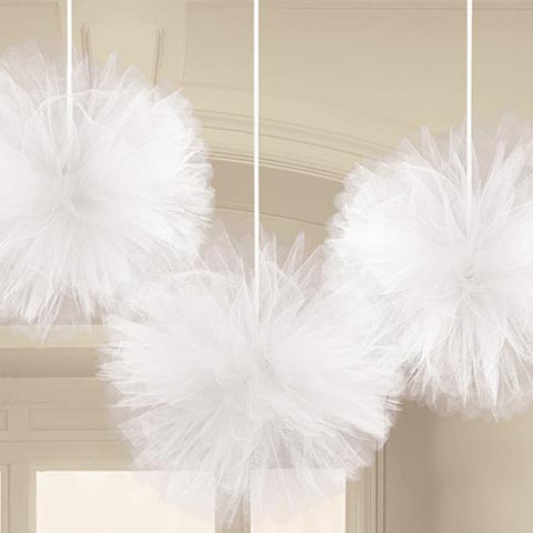 White Tulle Fluffy Balls (3)