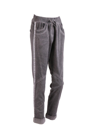 Italian Cotton Joggers Charcoal