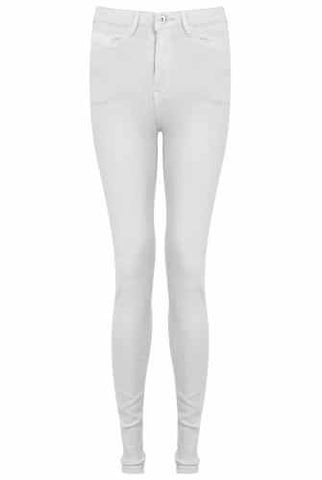 White High Waisted Soft Jeans