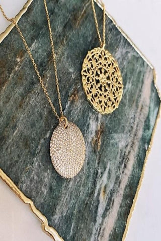CZ & Gold Layered Necklaces