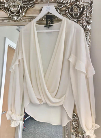 Ivory Draped Blouse